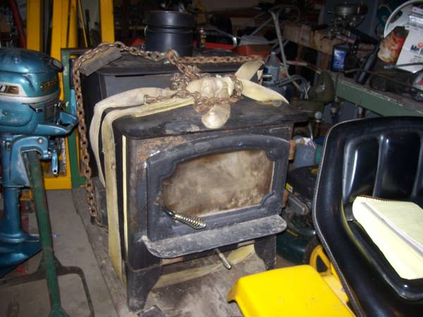 Ha Ha Cl Add Lopi Wood Stove With Blower Used Very
