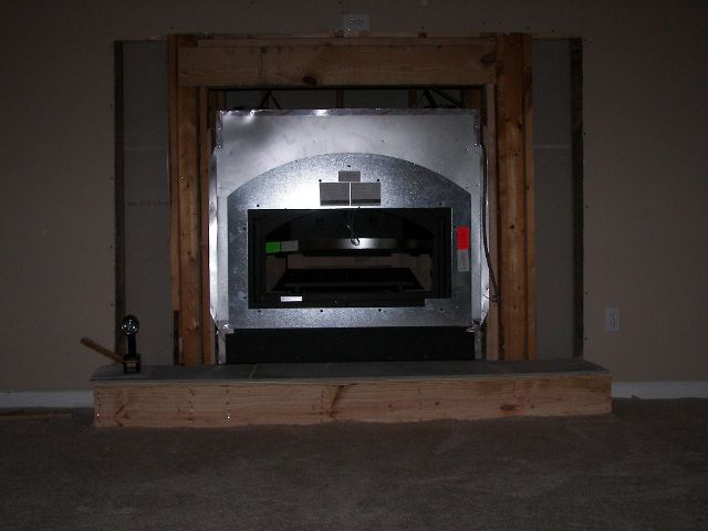 I have bought a 44 elite fireplace. I am going to install stone veneer around the fireplace. The installation manual says to install cement board from...