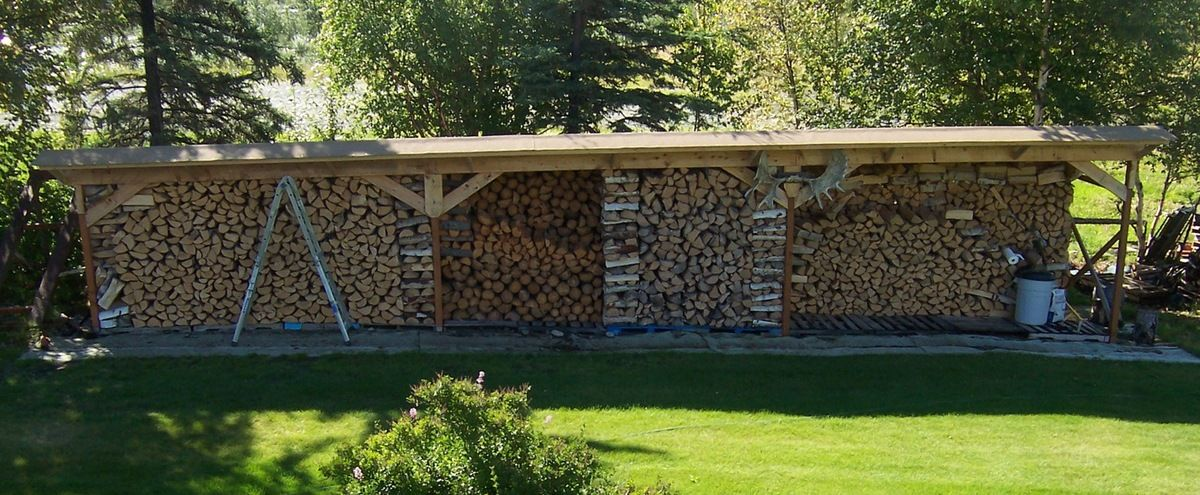Homemade Firewood Shed