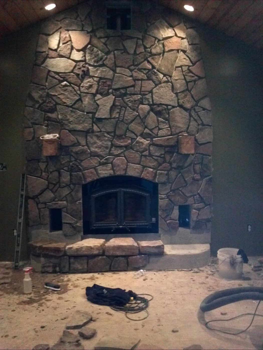how to grout a slate floor under a wood stove hearth com forums