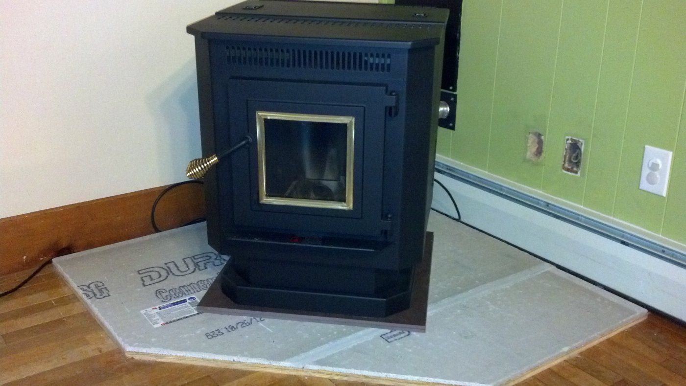 Pellet stove floor protection gurus floor for Floor hearth
