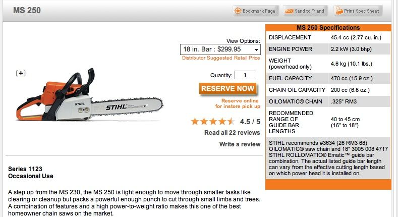 Stihl 048 Av chainsaw Specs And Features