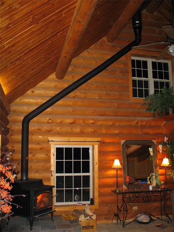 45 through house.jpg & Wood Stove install u0026 cathedral Ceiling | Hearth.com Forums Home