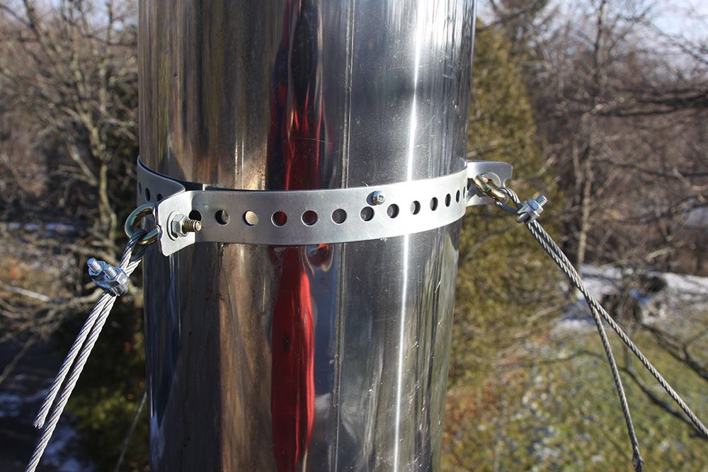 Diy Roof Brace Kit For Stainless Pipe Hearth Com Forums Home
