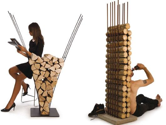 Awesome Indoor Log Rack Gallery - Interior Design Ideas ...