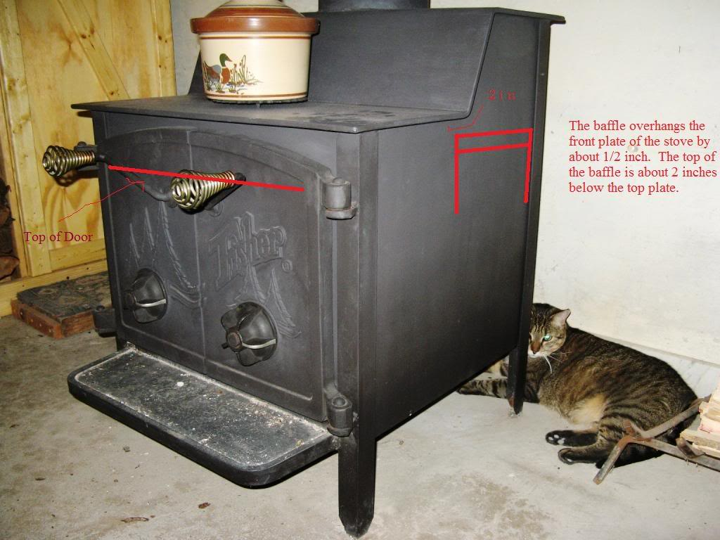 Added A Baffle To Grandma Bear Fisher Stove Updated With