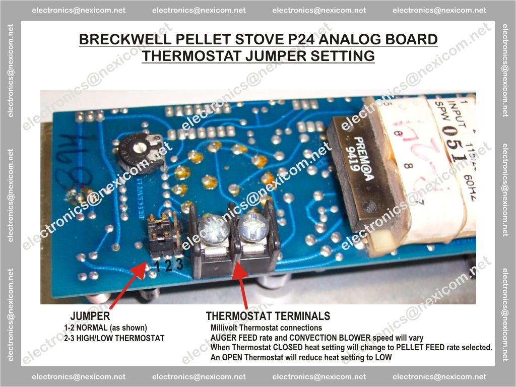 breckwell p24i control board jumpers hearth com forums home Breckwell P28 at bakdesigns.co
