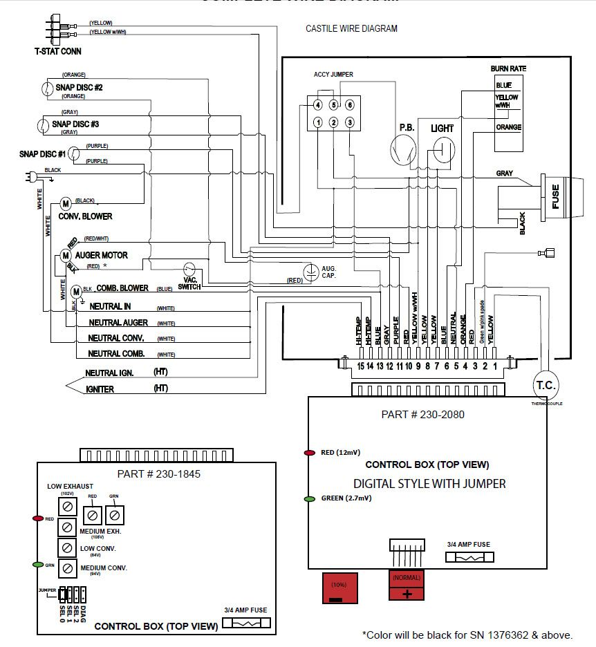 No exhaust blower in the 1100I Quadrafire – Rule -mate 1100 Wiring-diagram