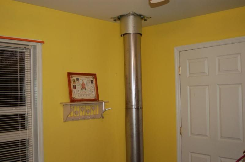 Ss Chimney Pipe Through 2 Floors On The Interior Hearth