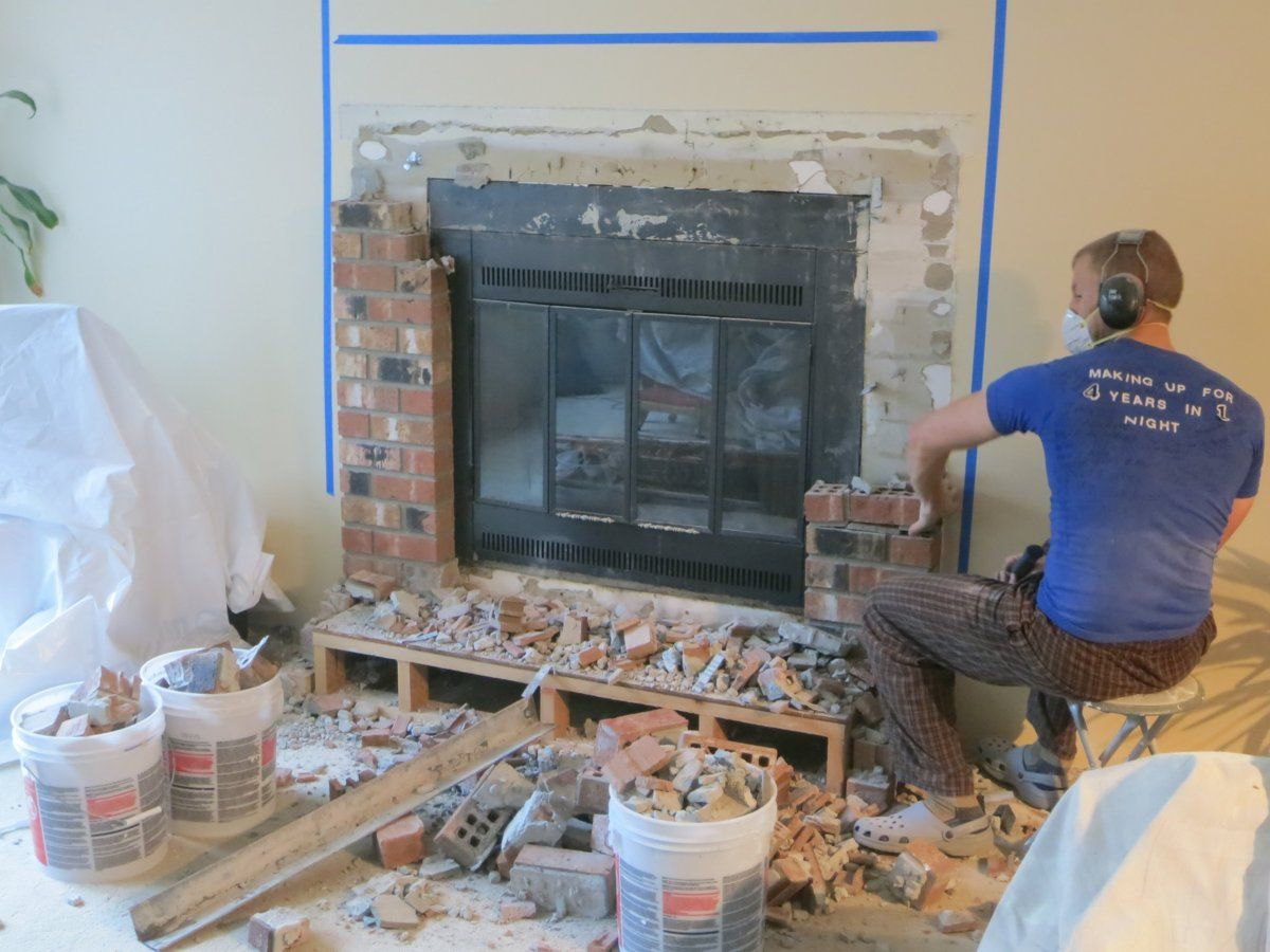 installation of our new heat n glo northstar fireplace with pics