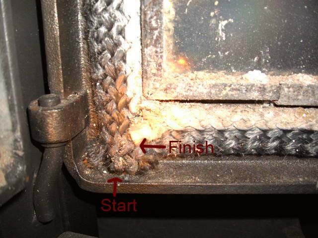 Door Gasket start & End.jpg - Is It Hard To Change The Door Gasket? Hearth.com Forums Home