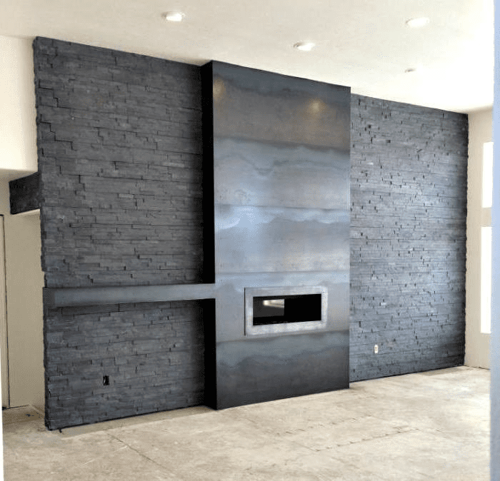 Tremendous How To Apply Sheet Metal On Wall Surrounding Fireplace Home Interior And Landscaping Eliaenasavecom