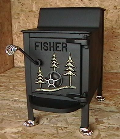 fisher wood stove 1