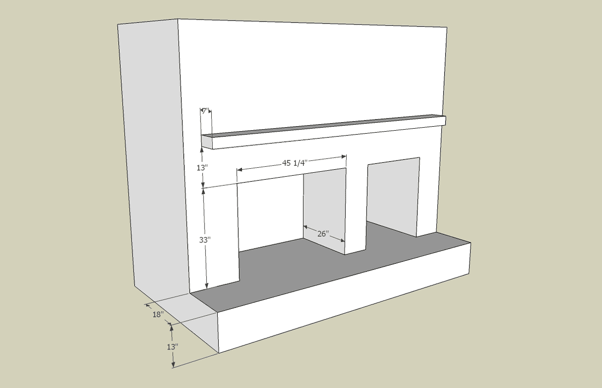 fireplaces plans drawing fireplace and cutaway superior clay instructions dimensions design rumford firebox