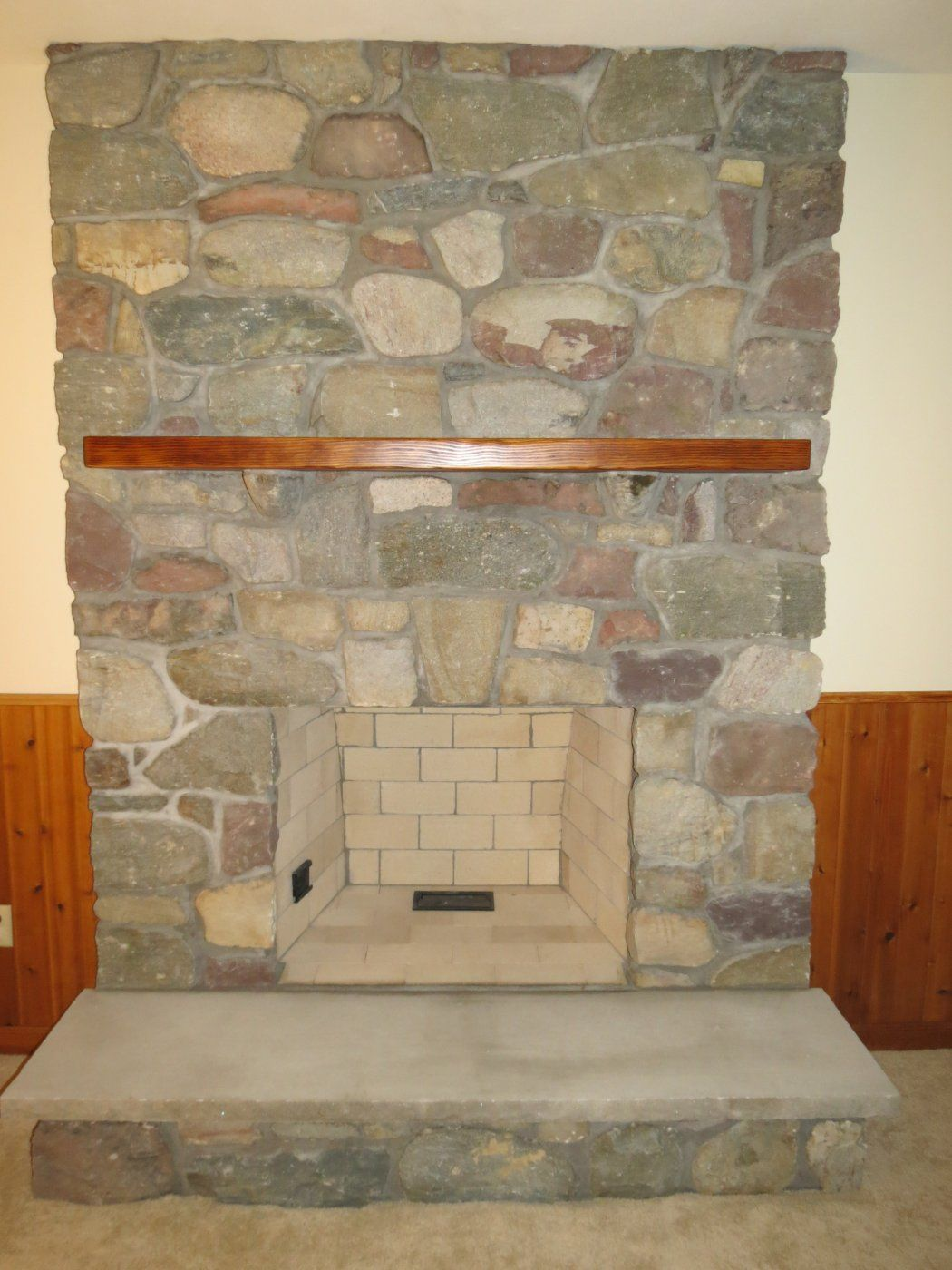 install a new fireplace stone or brick where would we begin