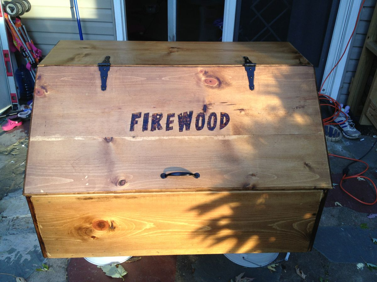 Firewood Box Open Firewood Box Finish