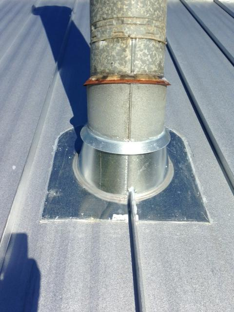 stove pipe flashing on corrugated metal roof hearth com forums home