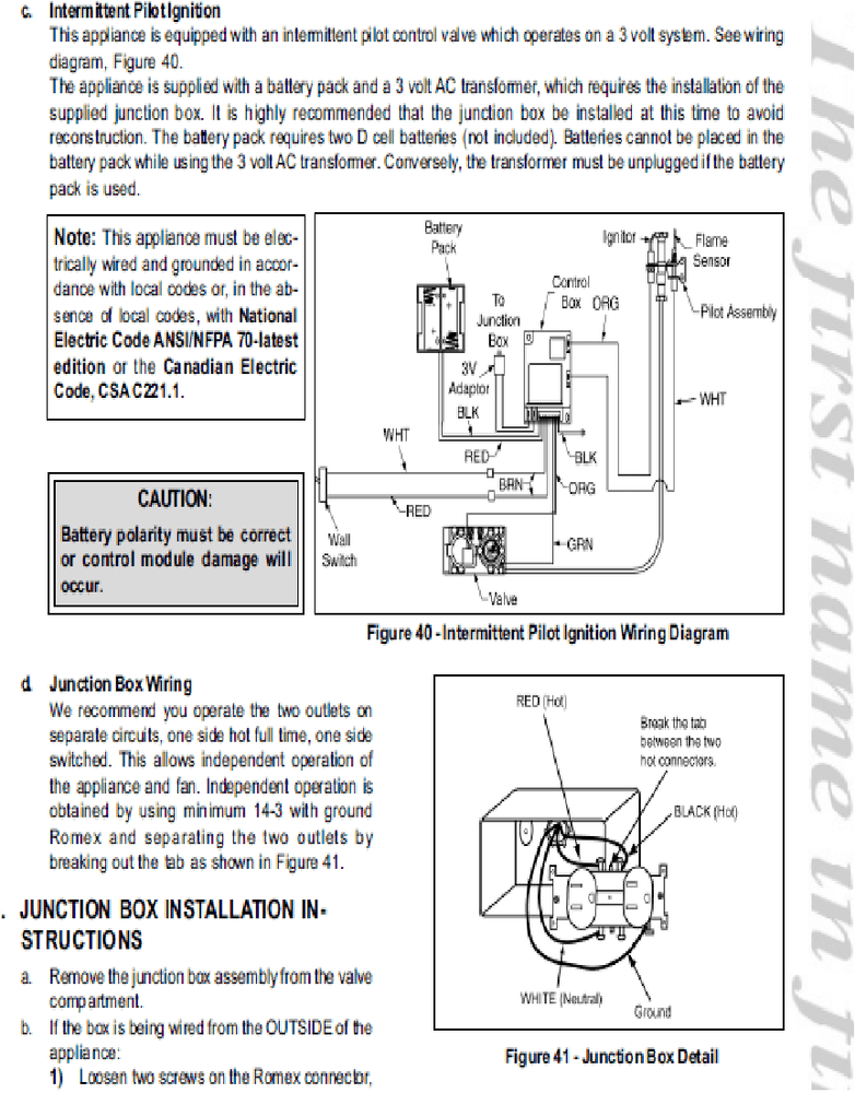 Heatilator Gas Fireplace Troubleshooting Wiring Diagrams Wiring Diagrams
