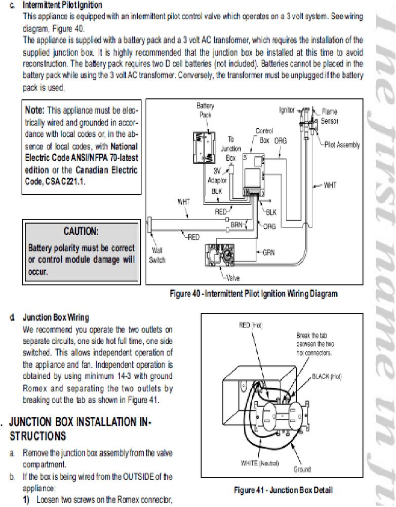 Heatilator Gas Fireplace Troubleshooting Wiring Diagrams Wiring Diagrams