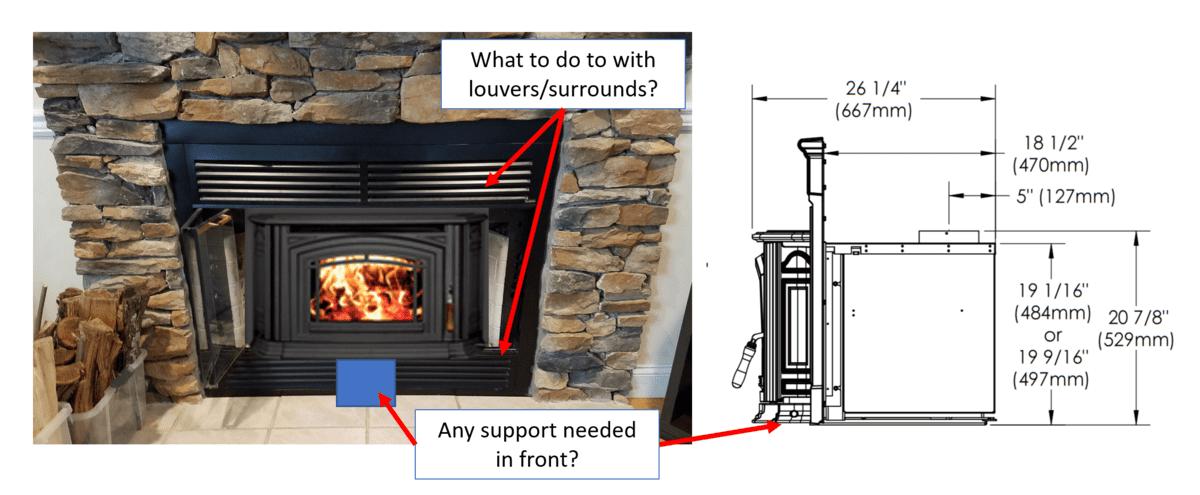 Fireplace Design heatilator fireplace : Ideas for Raised Insert Install in a Pre-Fab Heatilator | Hearth ...