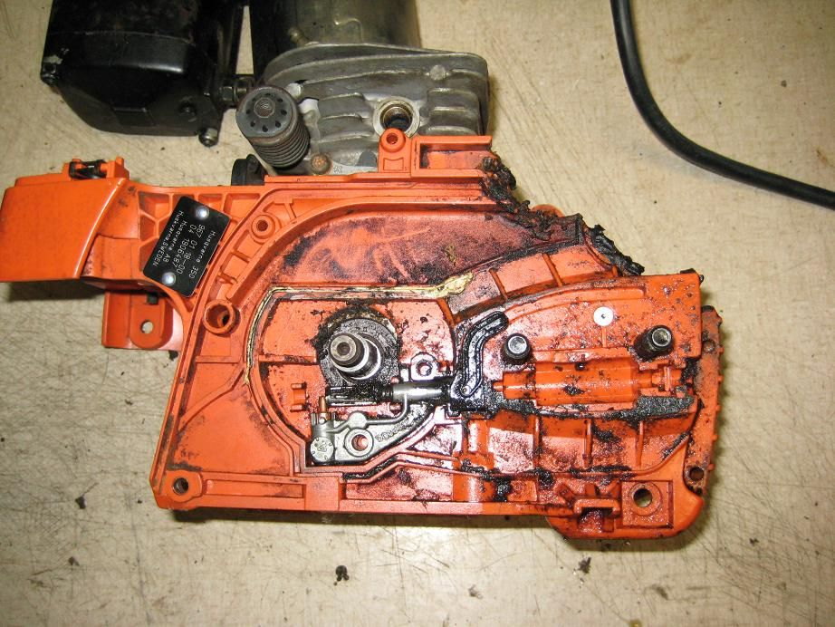 Melted clutch cover on Husky 350 Help!!! | Hearth com Forums