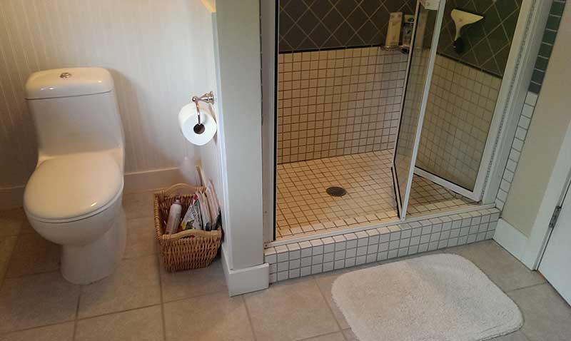 wooden baseboard in a tile floor bathroom Hearthcom Forums Home