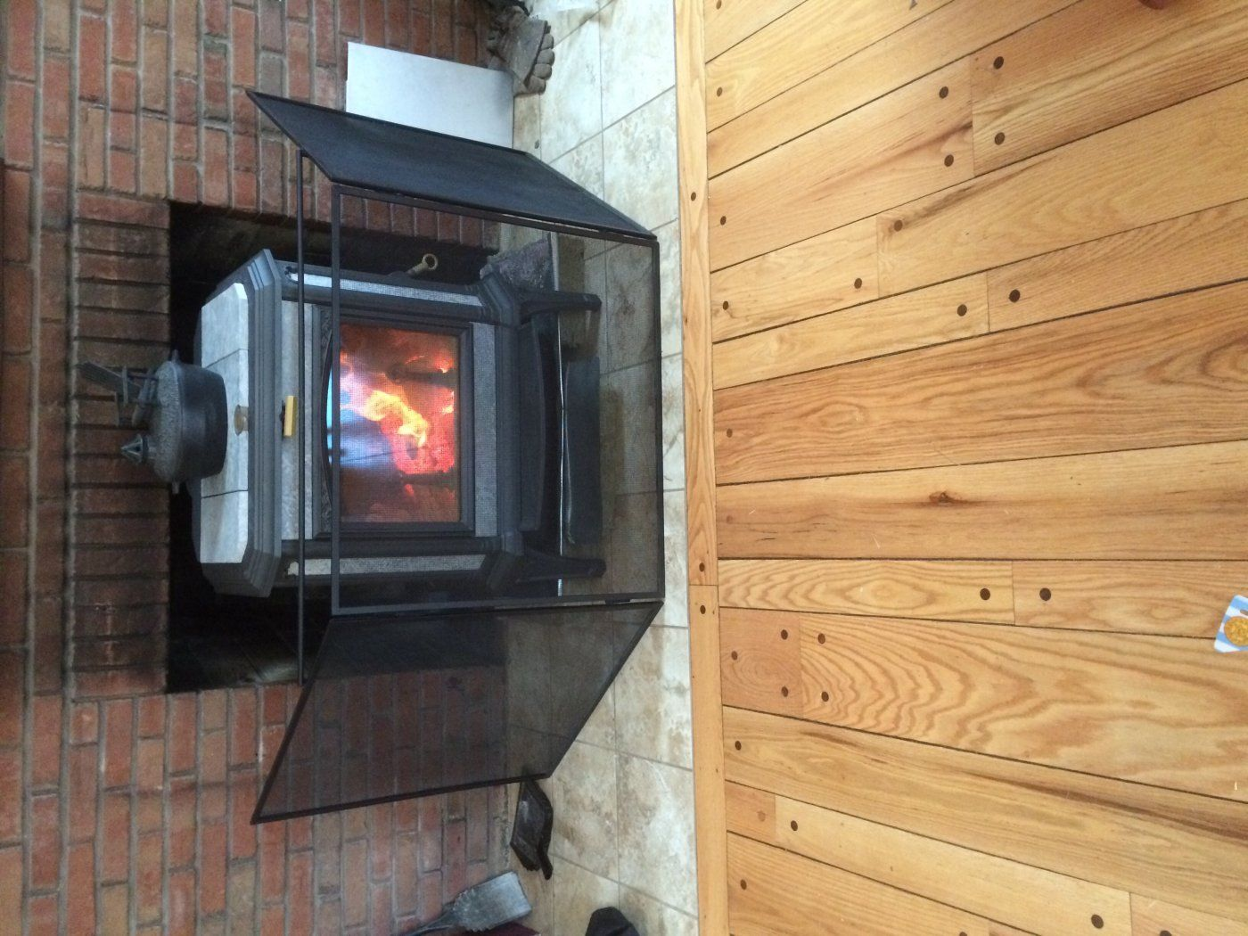 wood stove in front of existing fireplace hearth com forums home