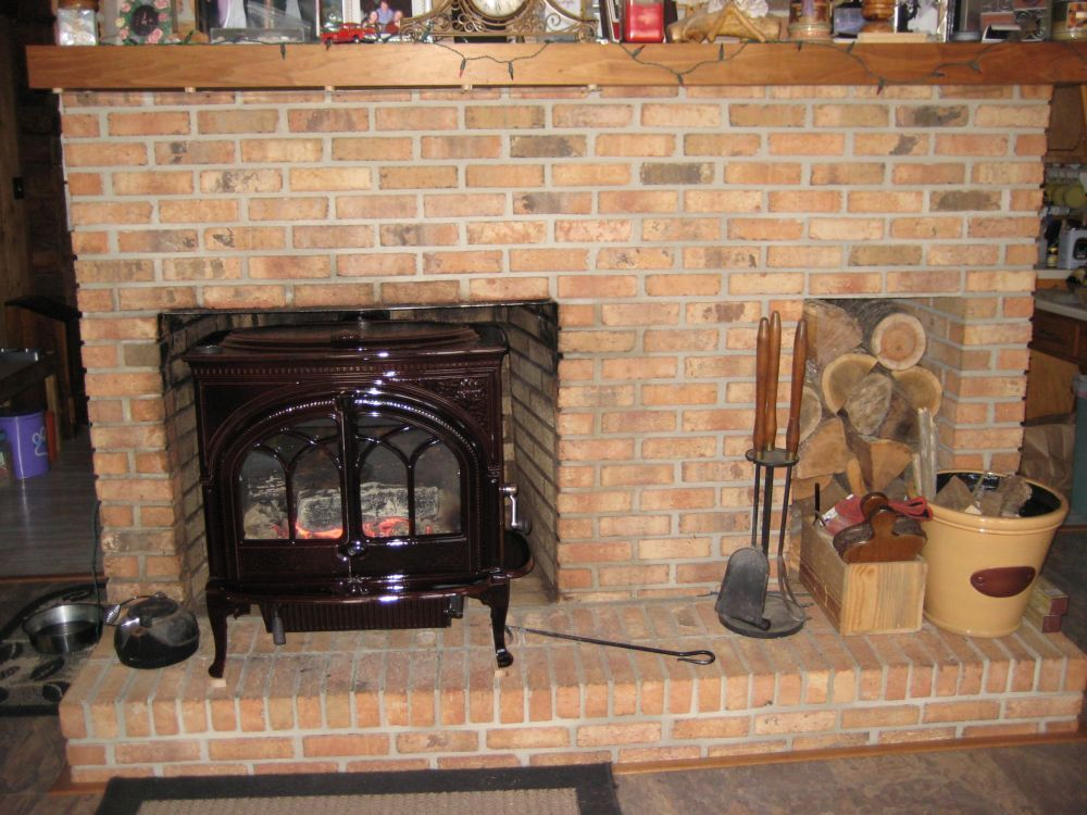 I put a sheet metal heat shield on the underside of the mantle with only a  half inch air gap and the wood doesn't get above 130 F with the stove top  reading ... - Call Your Local HVAC Store For Minimum Mantel Clearance