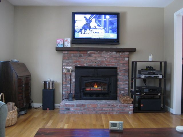 Mounting Lcd Tv Above Mantel With Wood Insert Hearth Com Forums Home