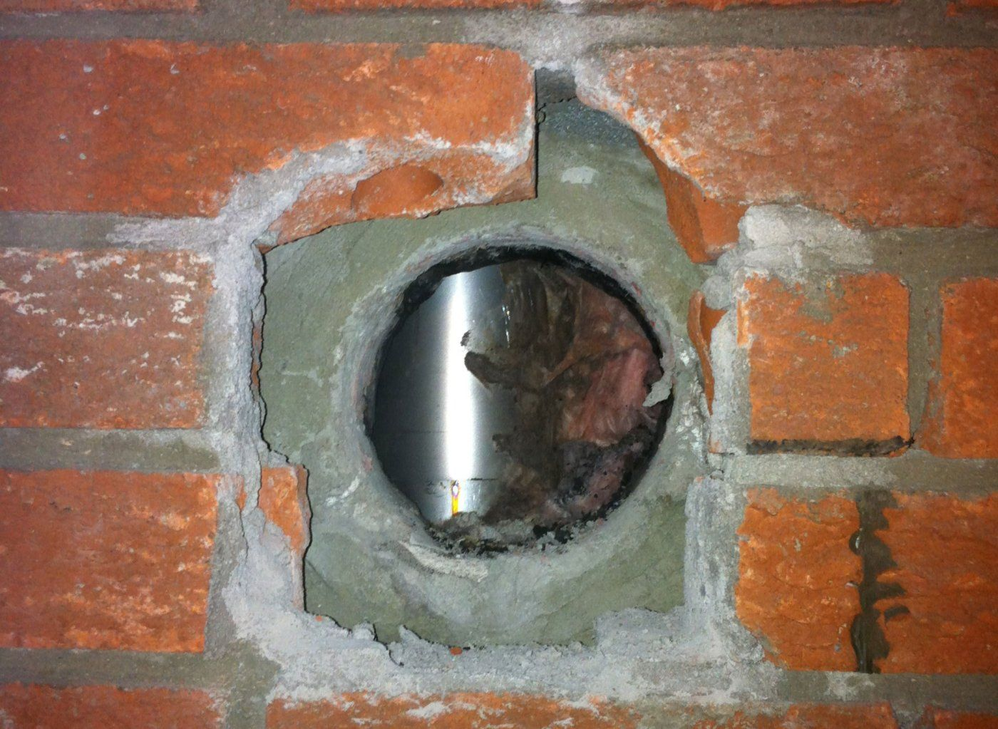 wood stove installation in existing masonry with rigid liner
