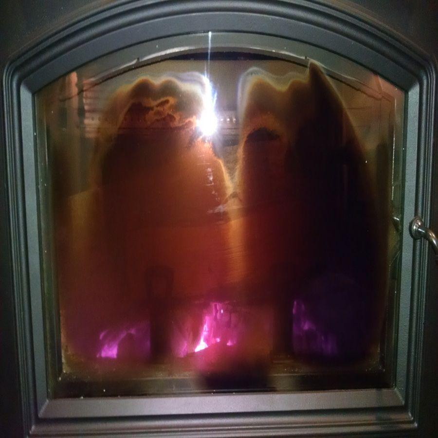 quadrafire voyageur grand dirty glass all the time hearth com