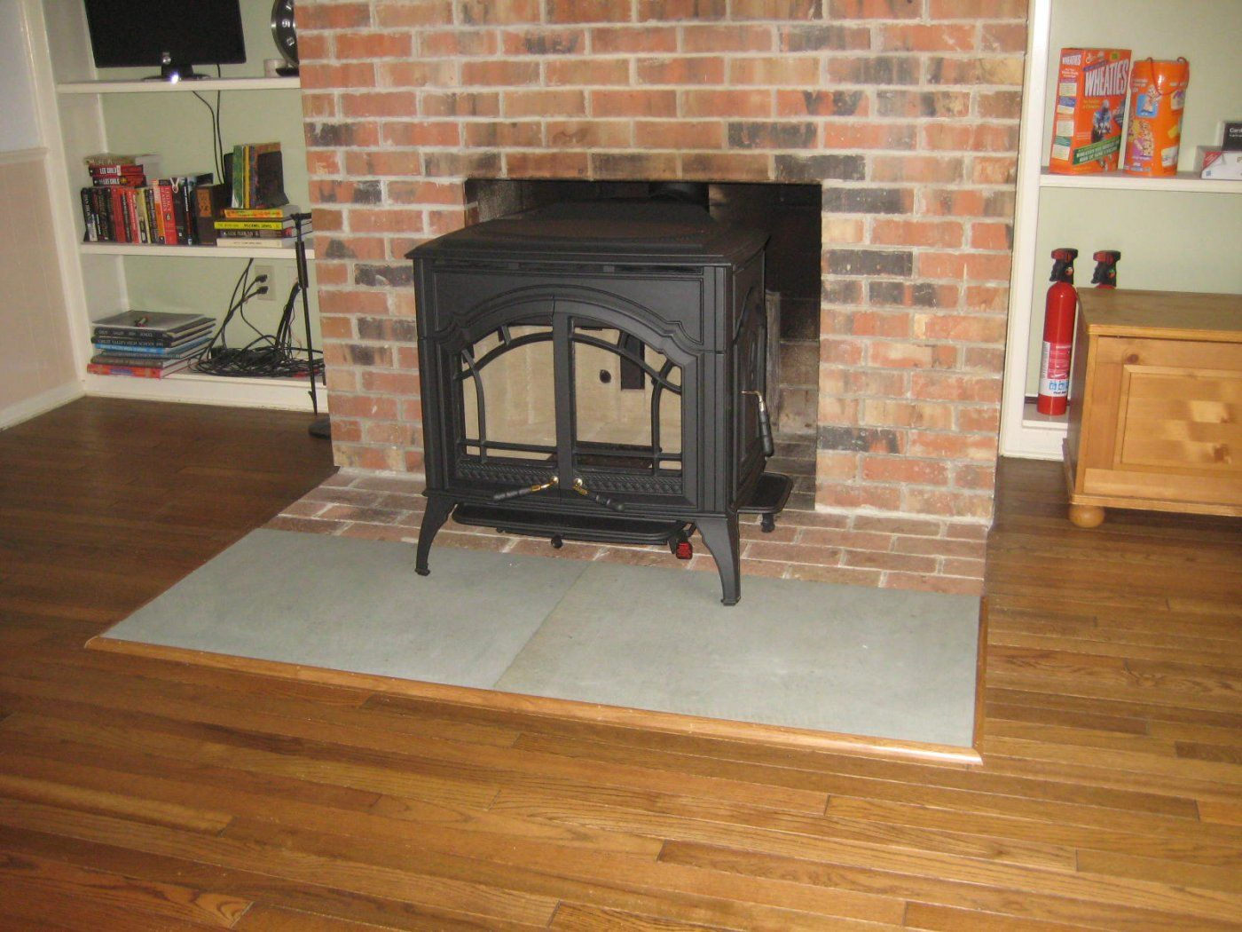 rear vent wood stove through masonry fireplace hearth com forums