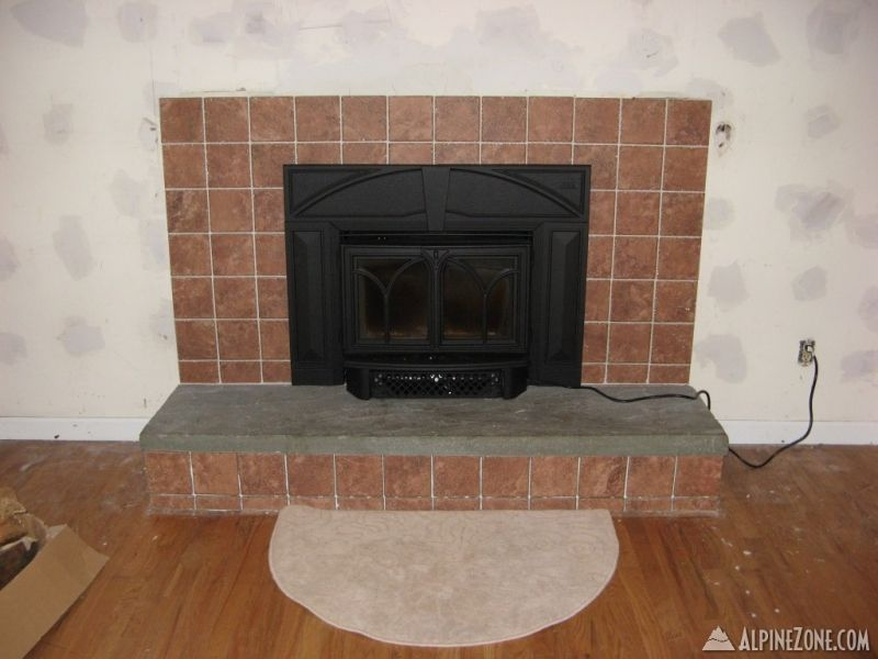 Btw I Just Grouted The Skirt Below Bluestone Hearth On Sunday Still Need To Get In There With A Sponge And Clean Up Grout Lines