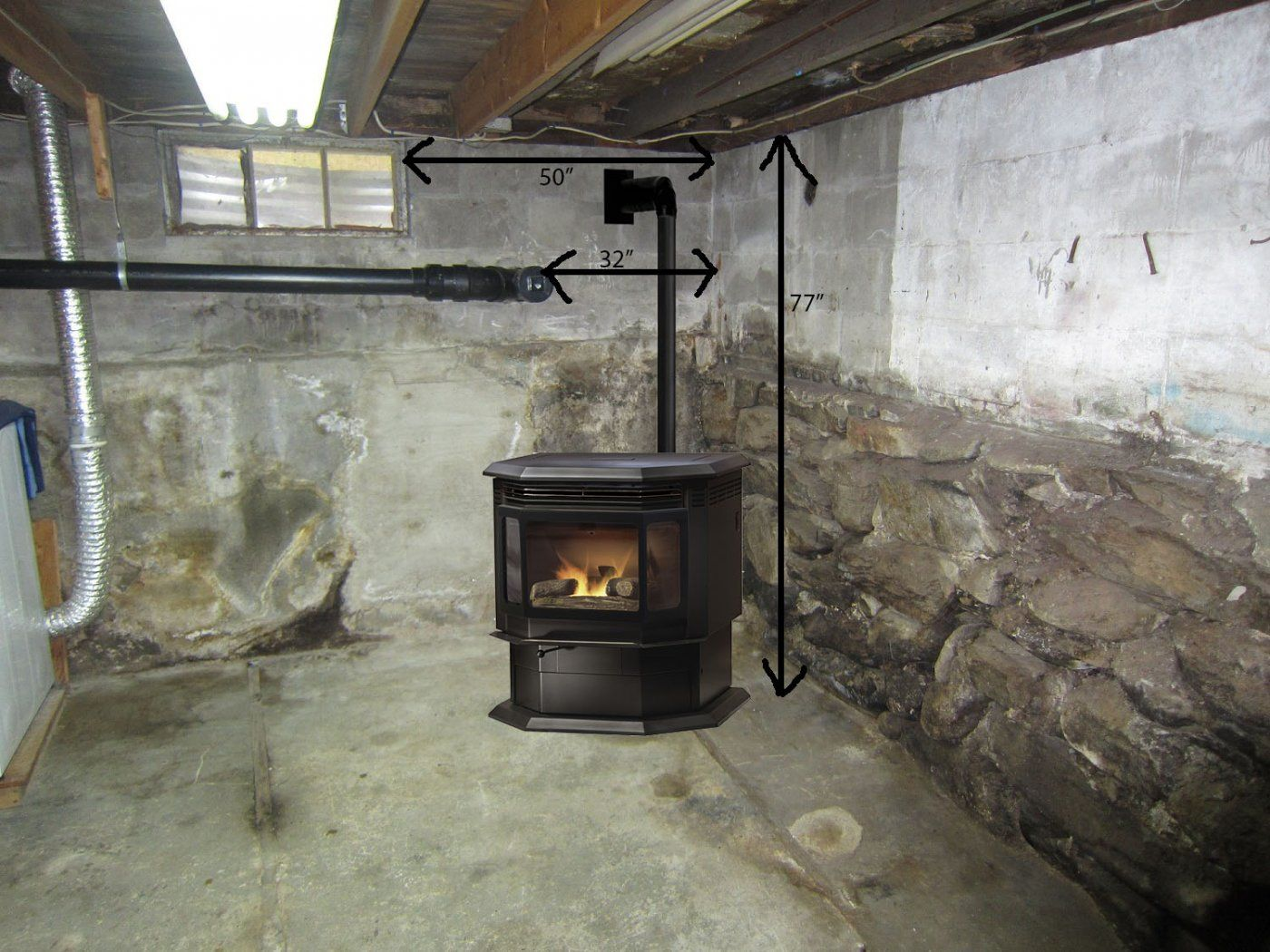 Wood Stove Pipe Kits Through The Window Fireplaces
