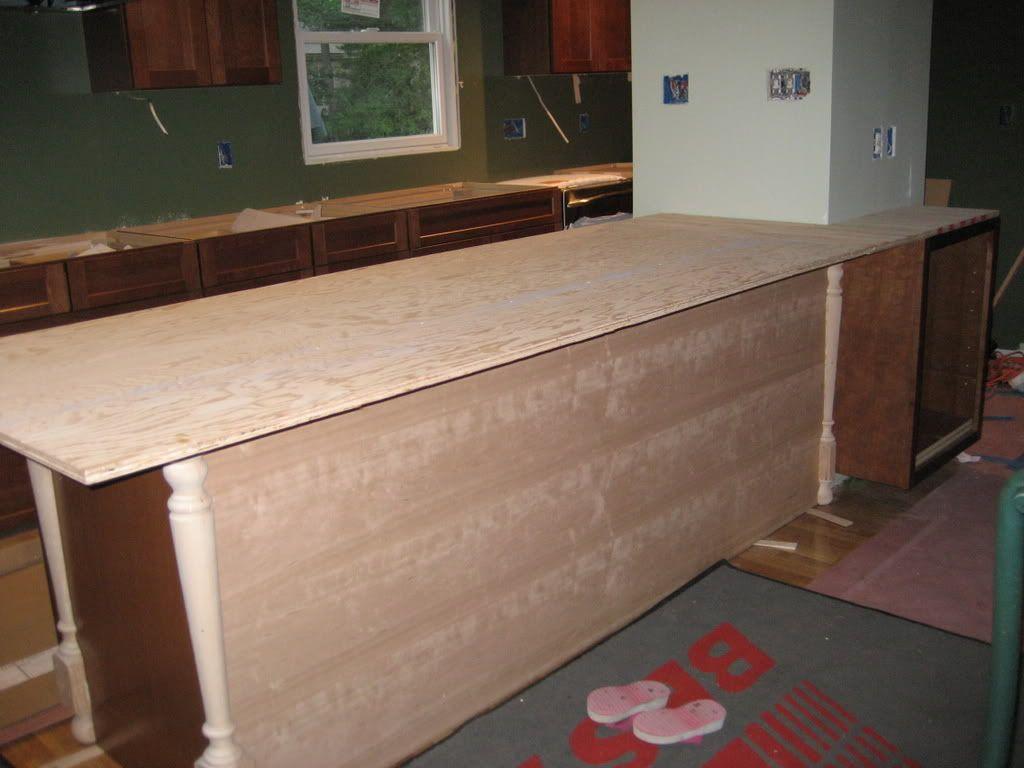 New granite kitchen countertop drop in or undermount sink for Granite countertop overhang