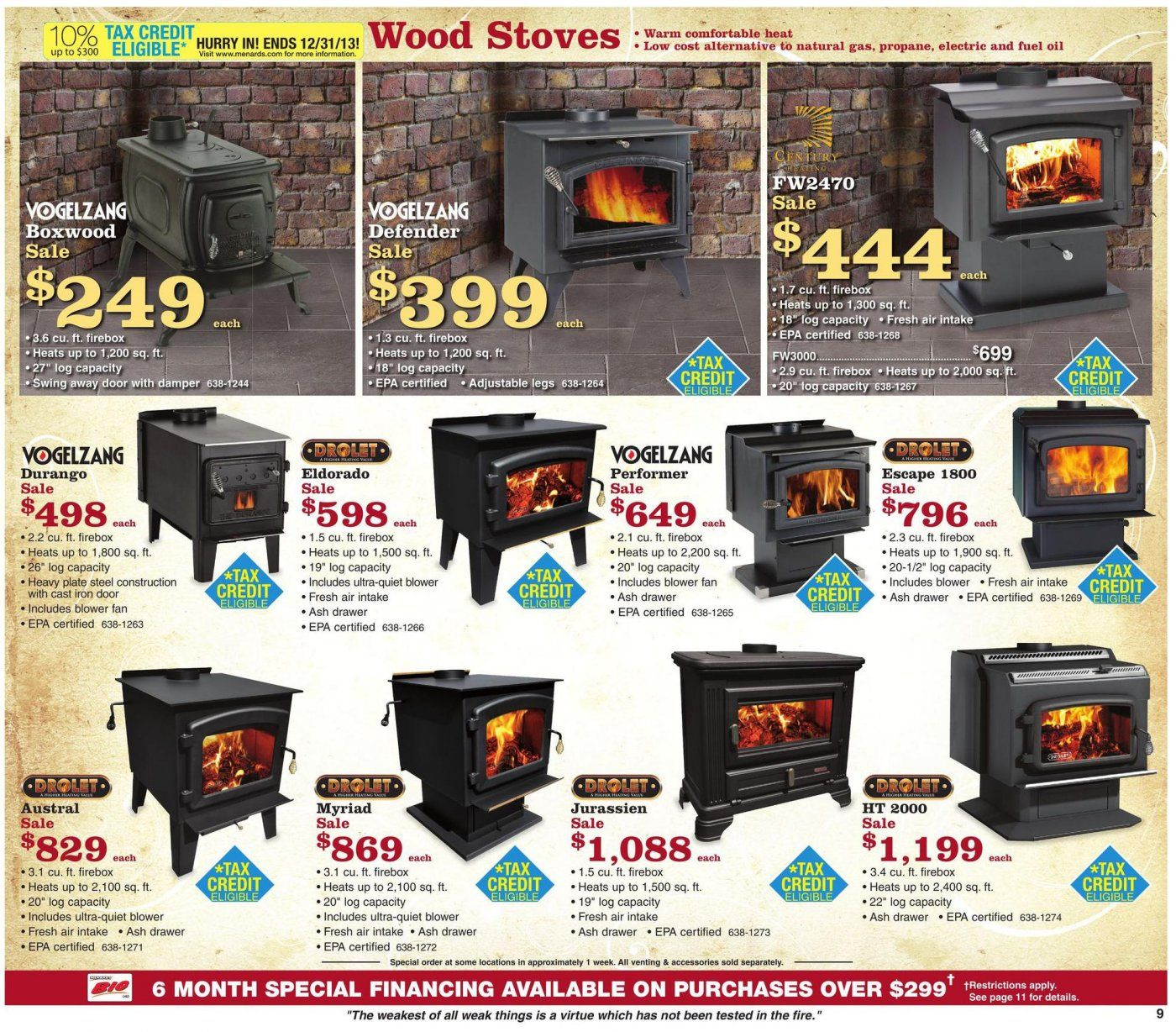 Good Deals On Wood Stoves Till Oct 9th Hearth.com Forums Home - Menards Wood Stove WB Designs