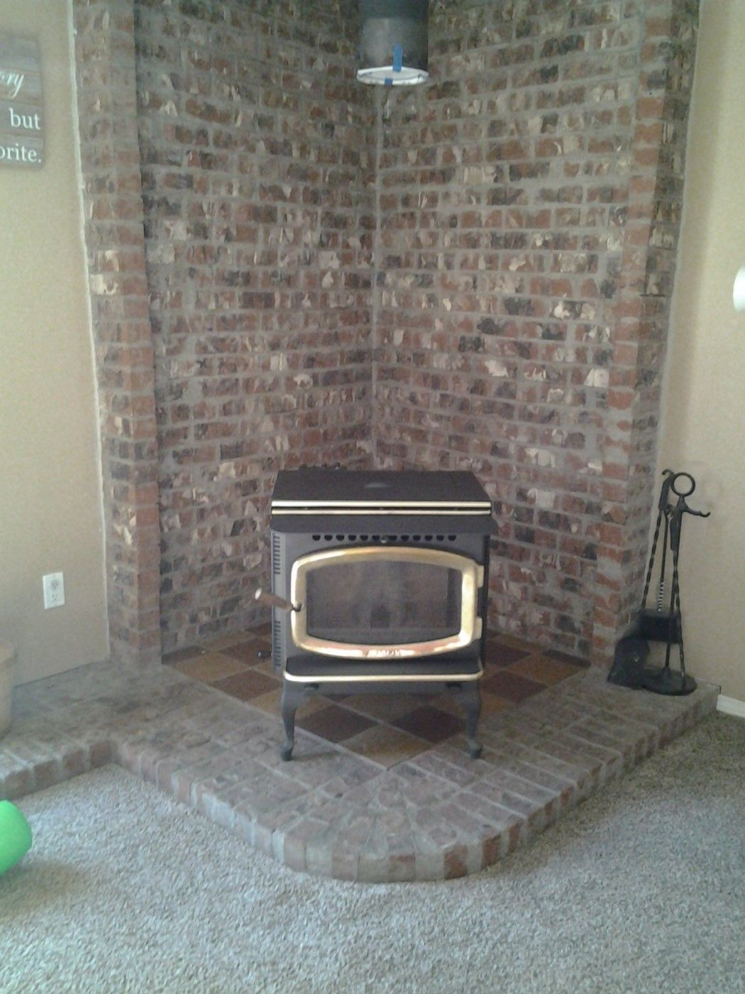 New To Me Avalon Pellet Stove Sitting In Place Hearth