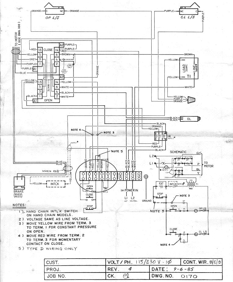 commercial garage door wiring diagram