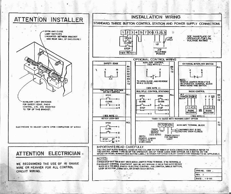 overhead door wiring diagrams wiring automotive wiring diagram Garage Door Opener Diagram legacy garage door wiring diagram