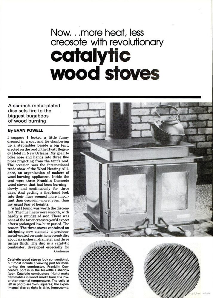 Concorde catalytic stove | Hearth com Forums Home