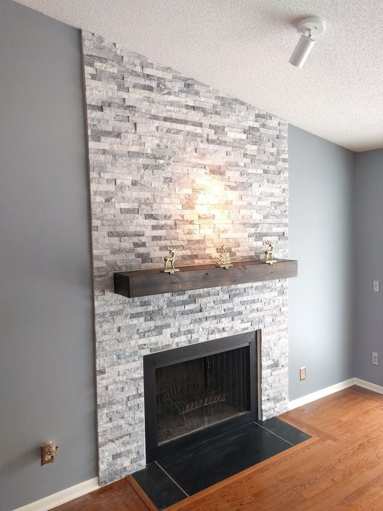 Installing Stone Veneer On Wall With Fireplace Hearth Com