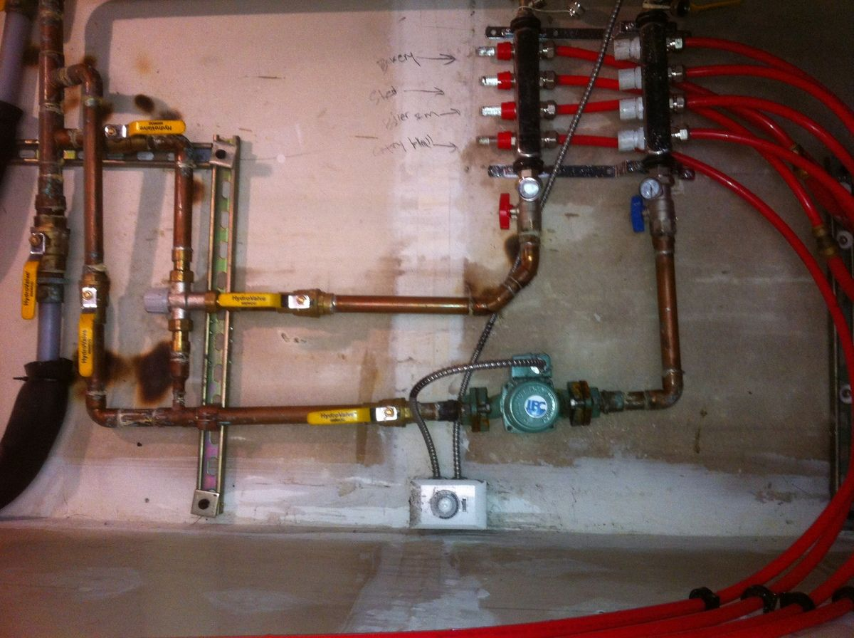 how to clean radiant heat pipes