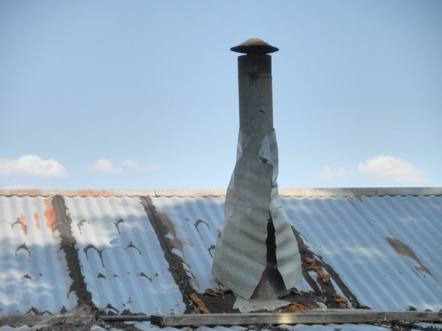 redneck_chimney.jpg ... & Stovepipe/Chimney for a masonry heater in a yurt | Hearth.com Forums ...
