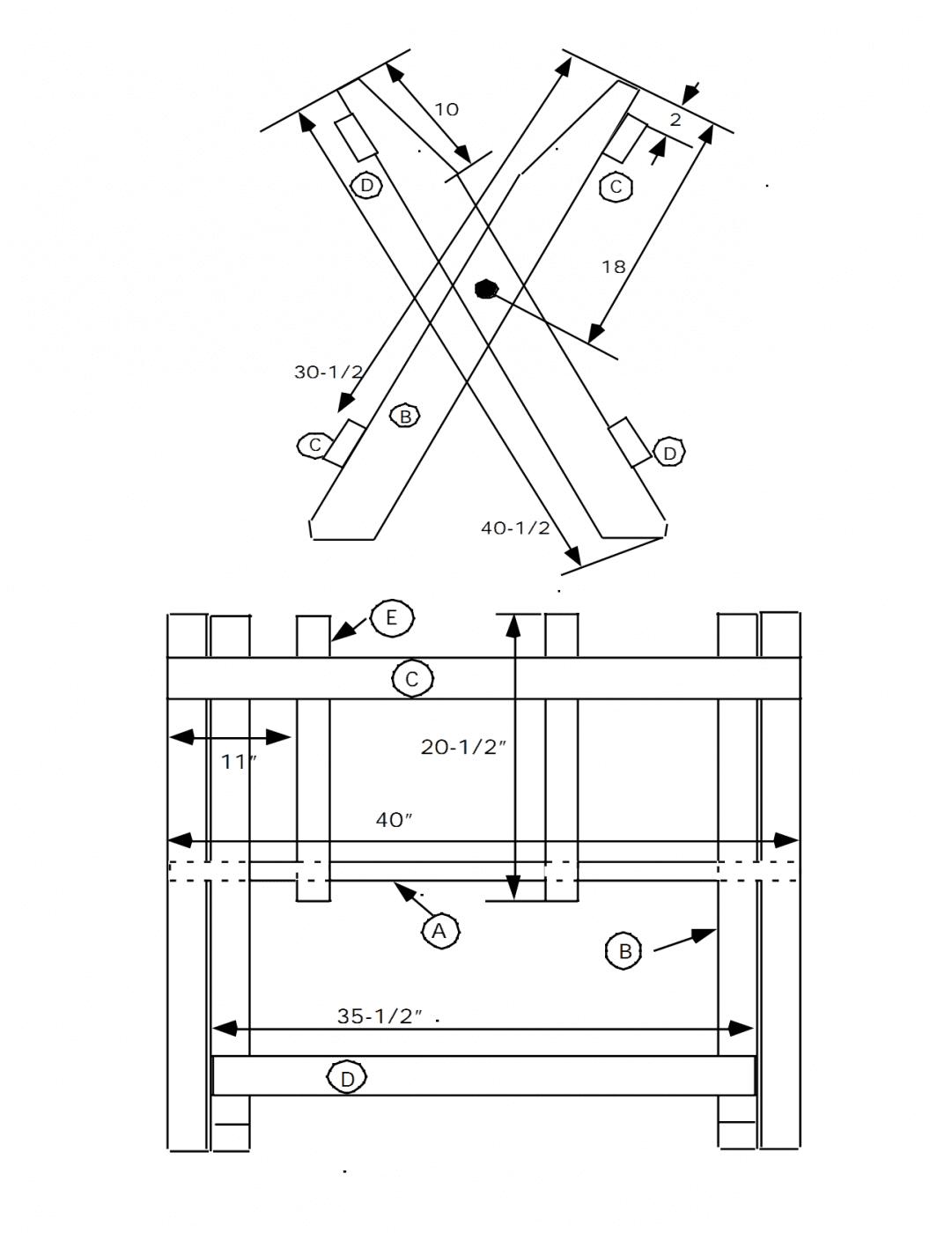 ... folding sawbuck Plans PDF Download Free Build A Corner Liquor Cabinet