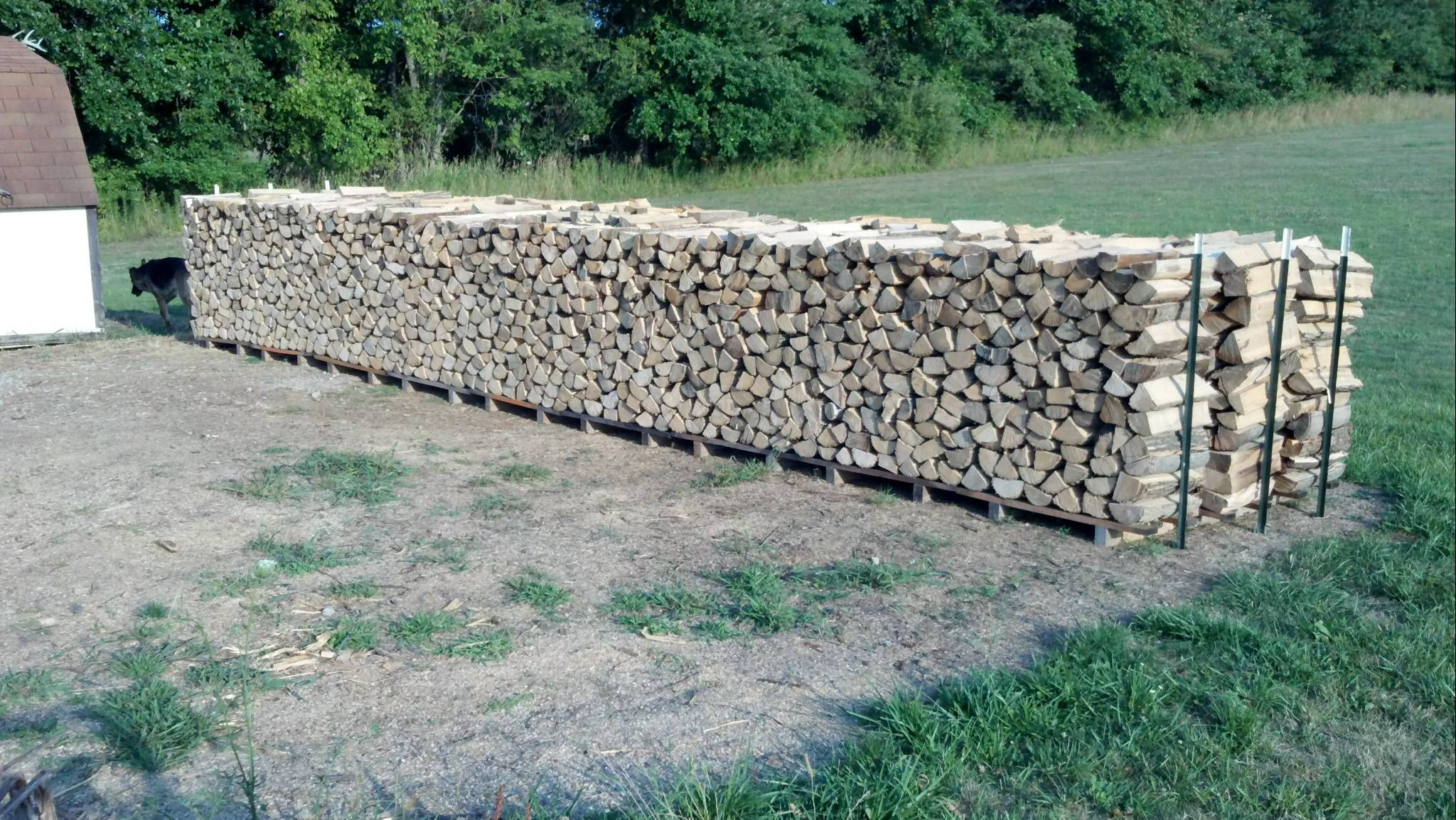 homemade firewood rack
