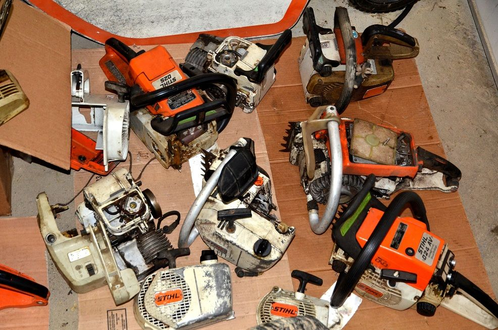 my stable of broken down saws hearth com forums home rh hearth com Stihl MS290 Chainsaw Parts Diagram Stihl Chainsaw Manual
