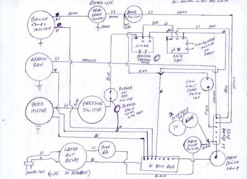 Custom control schematic for older Pellet stove | h.com ... on pellet stove inserts, pellet stove fireplace, pellet stove heat exchanger, pellet stove parts,