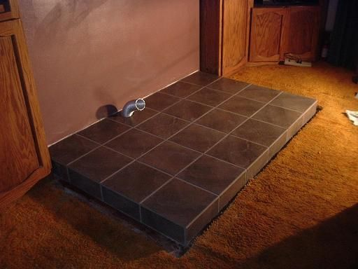 Wood stove floor protector ideas floor matttroy for Floor hearth