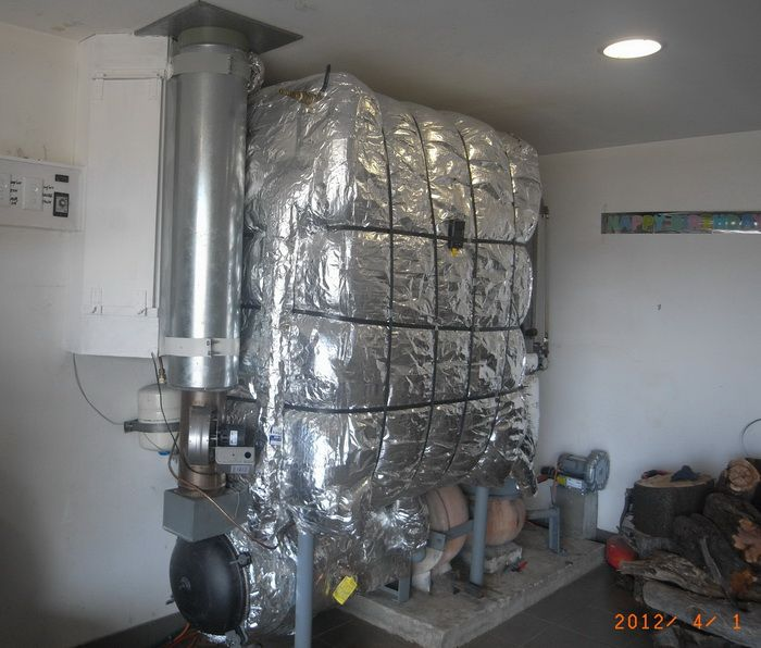 my progress in building a wood fired boiler based on the design by