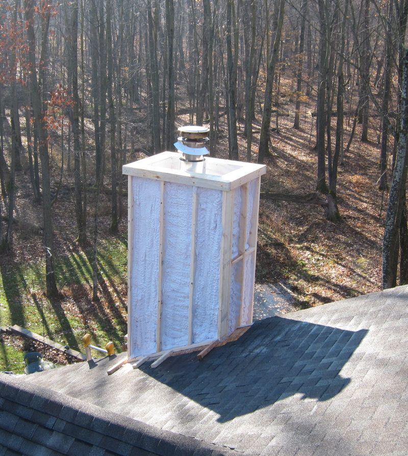 Wood Framed Chimney Chase Construction Best 2018